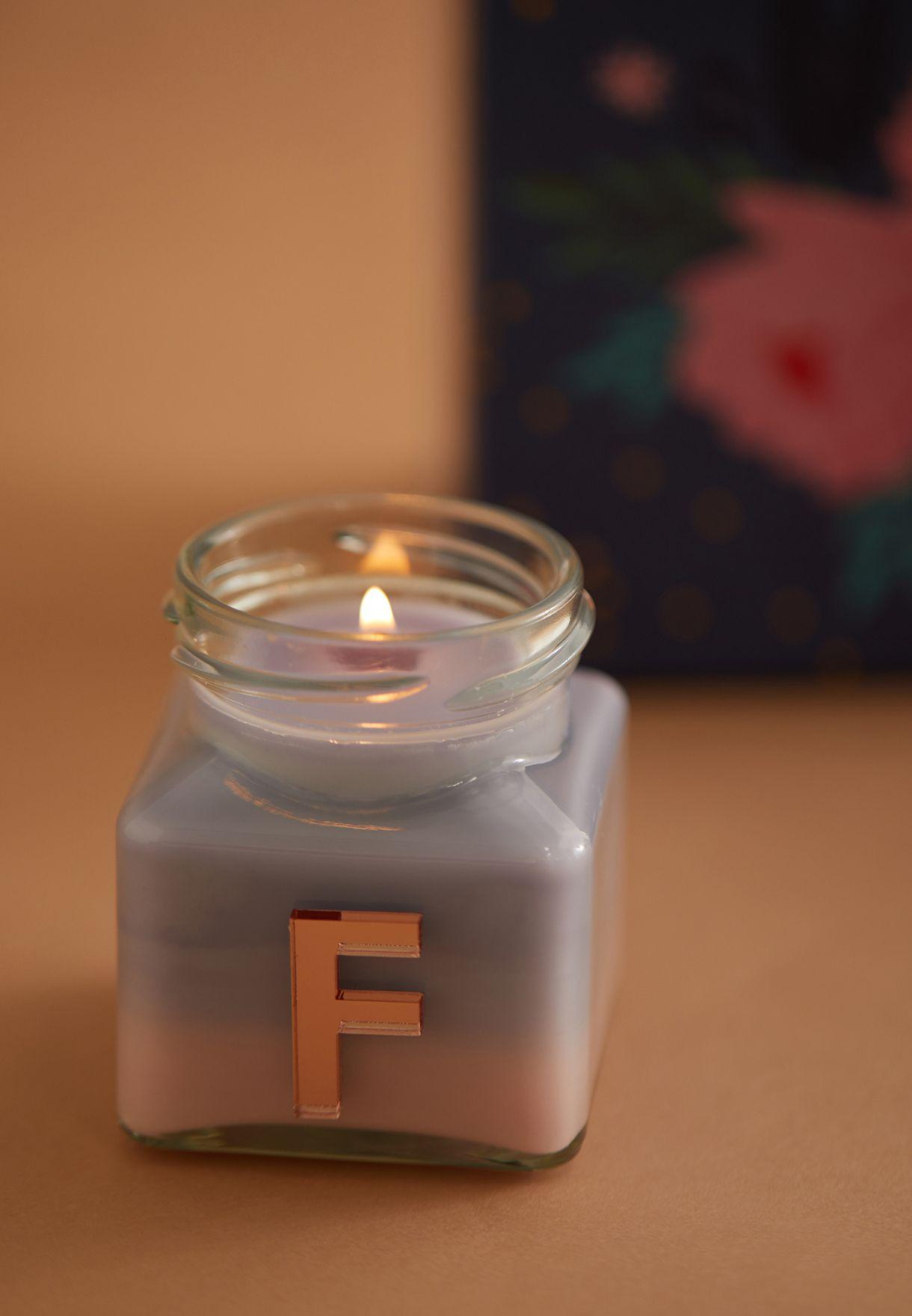 Vanilla Ylang Ylang Initial F Candle