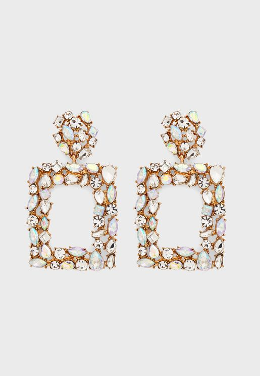 Ornate Doorknocker Drop Earrings