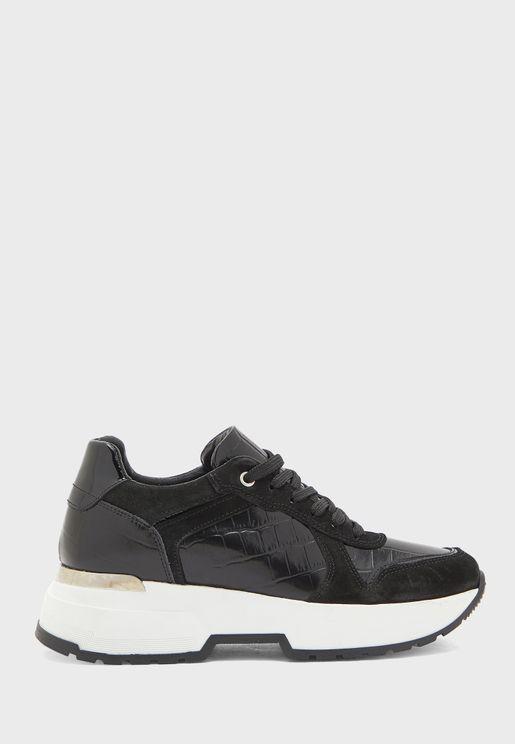 Wedge High Top Sneaker