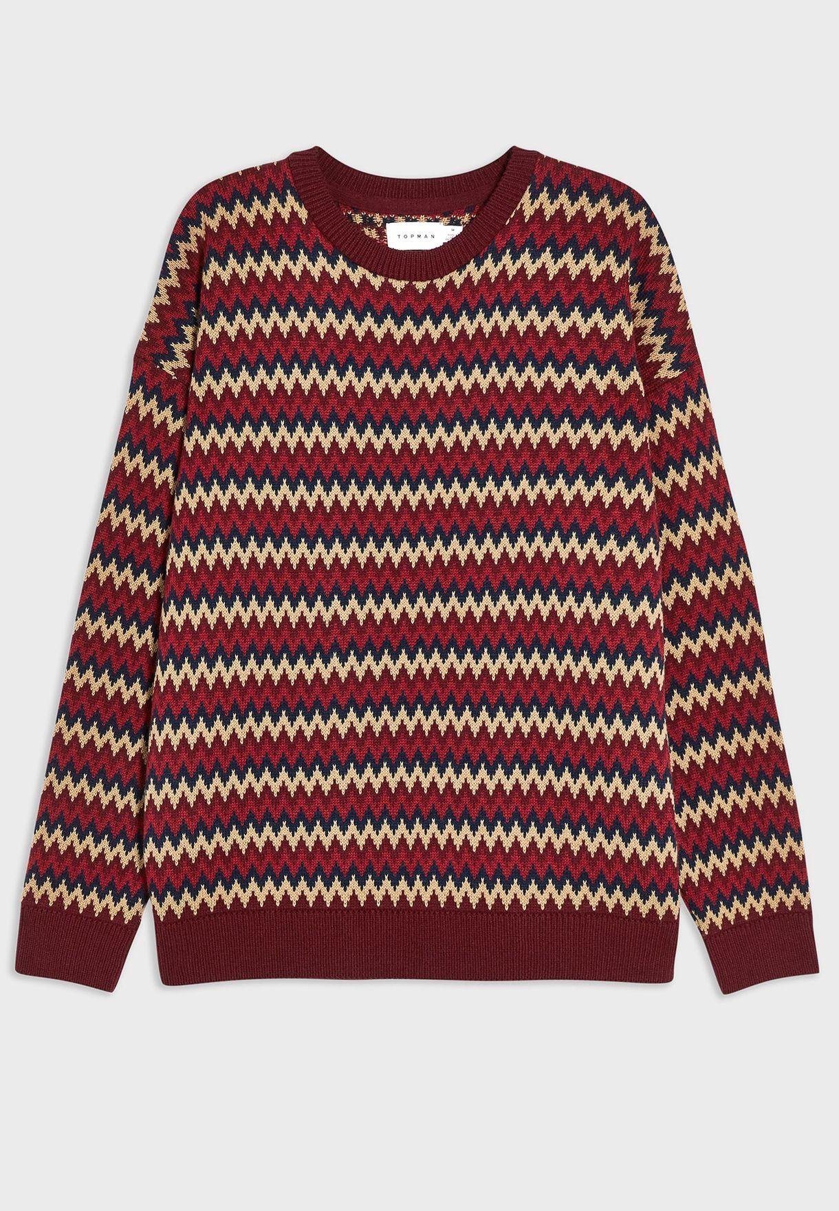 Zigzag AOP Sweater