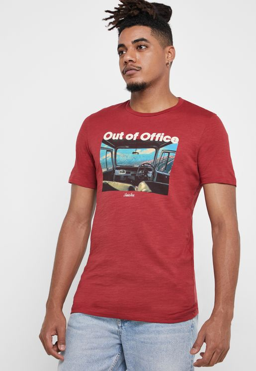 Out To Office Slim Fit T-Shirt