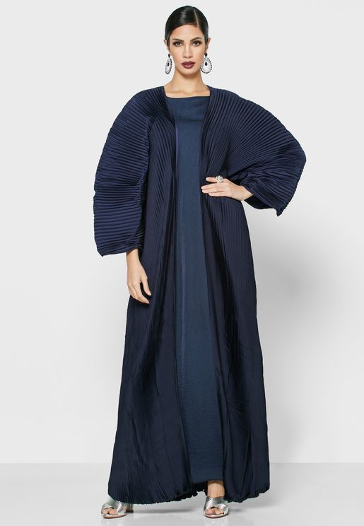 Pleated Abaya Set