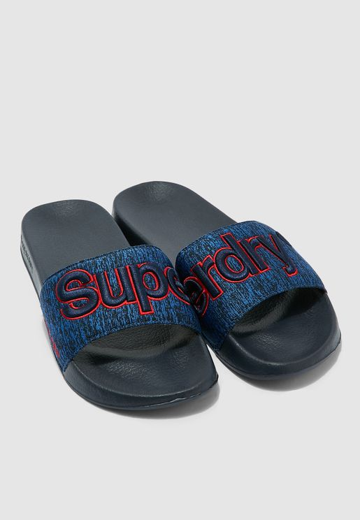 Logo Embroidered Pool Slides