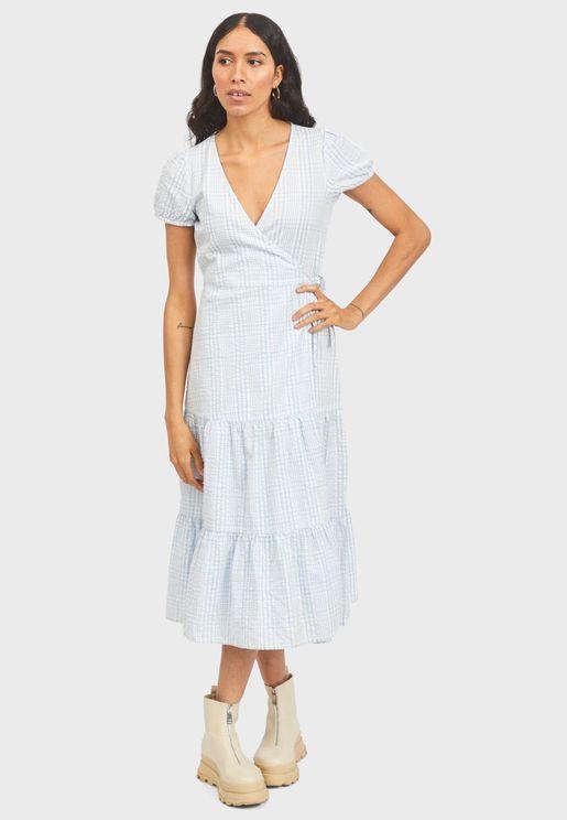 Side Tie Wrap Dress