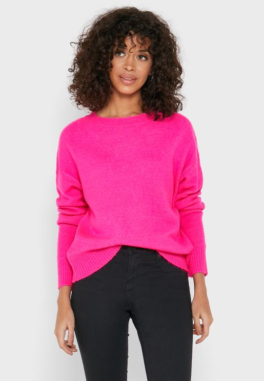 Ribbed Hem Sweater