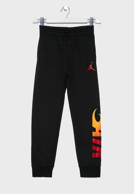 Youth Jordan Jumpman Fire Sweatpants