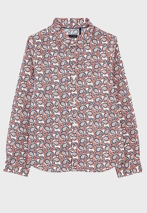 Kids Paisley Print Shirt