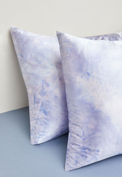 Tie Dye Satin Pillow Slip Duo