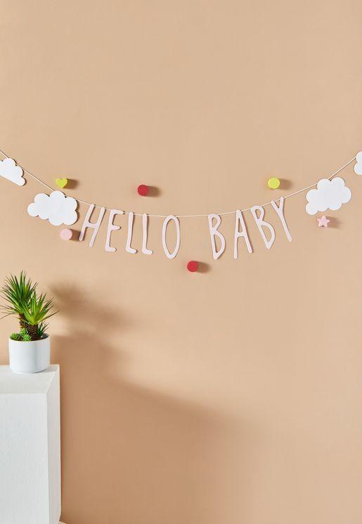 حبل بطباعة Hello Baby