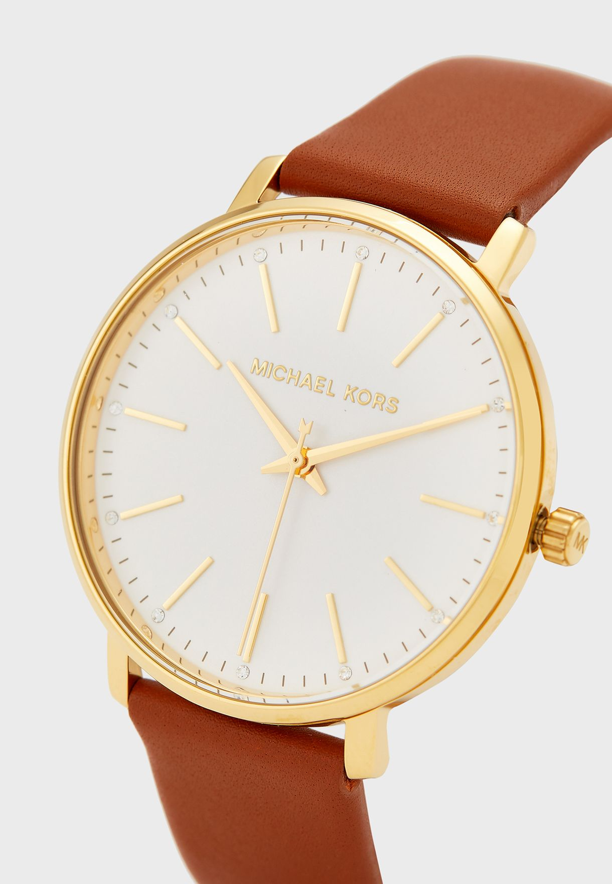 Pyper Leather Strap Analog Watch