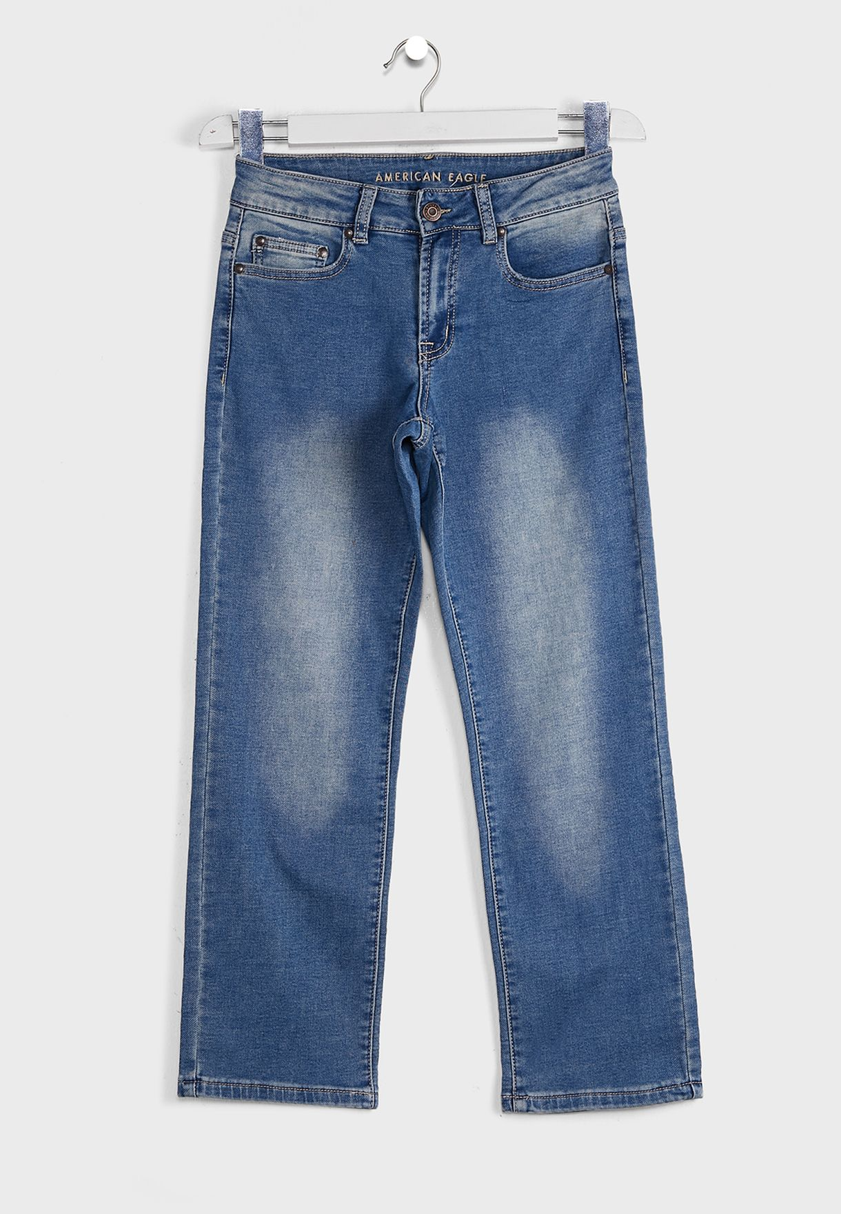 Kids Mid Wash Relaxed Fit Jeans