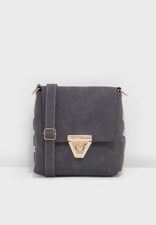 Crossbody Bag With Clasp Detail