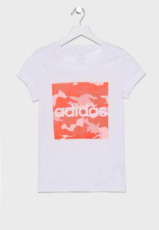 Youth Camo Logo T-Shirt