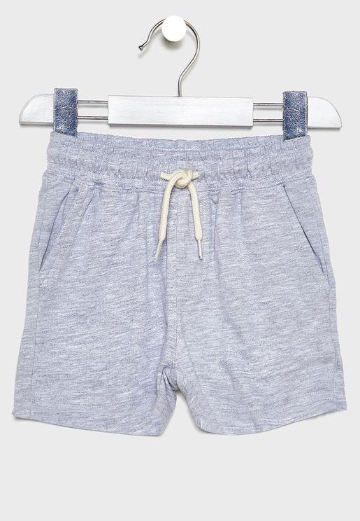 Kids Tie Waist Sweat Shorts