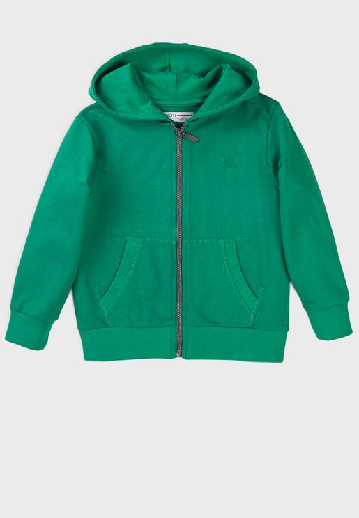 Infant Basic Zip Thru Hoodie