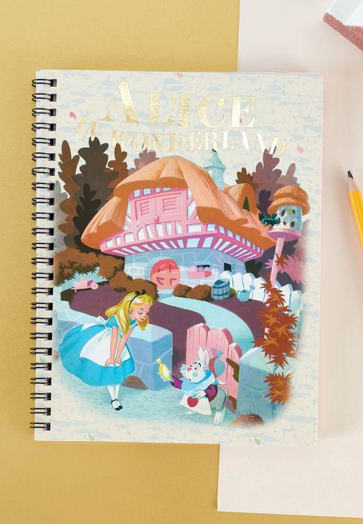 A5 Disney Alice In Wonderland Spinout Notebook