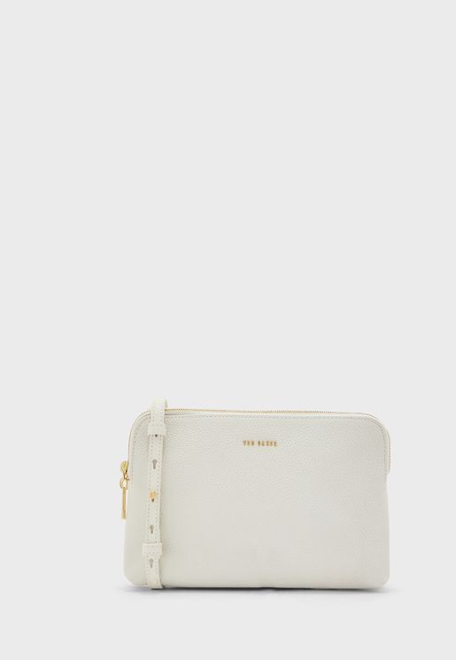 Ciarraa Soft Leather Double Pouch Crossbody
