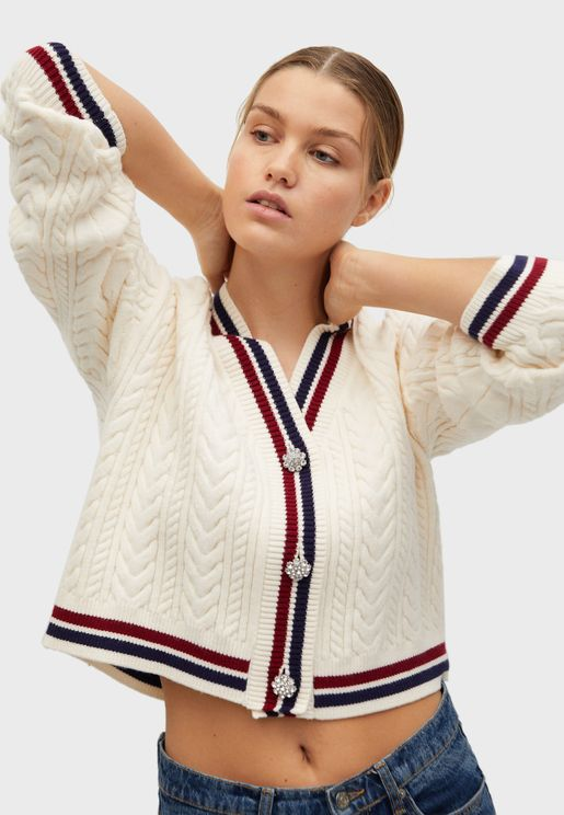 Button Down Knitted Cardigan