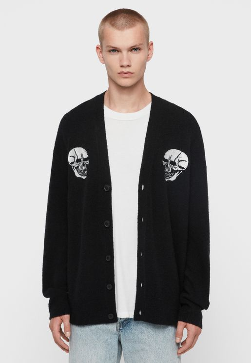 Skullz Button Cardigan