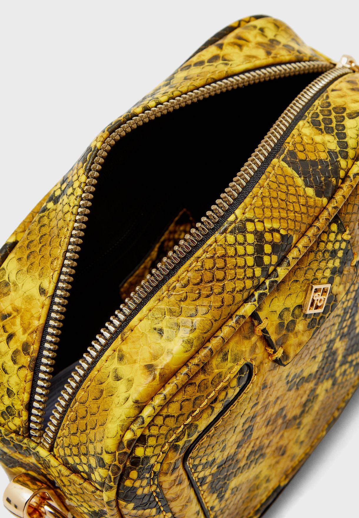 حقيبة جانبية بطبعات حيوانية