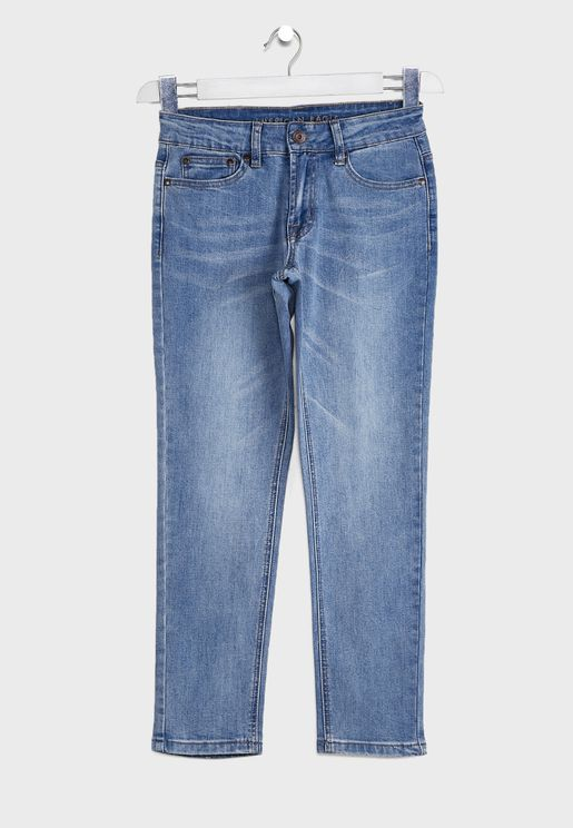 Kids Mid Wash Skinny Fit Jeans