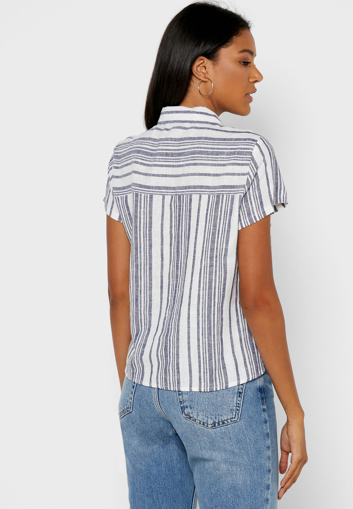 Front Pocket Striped Shirt