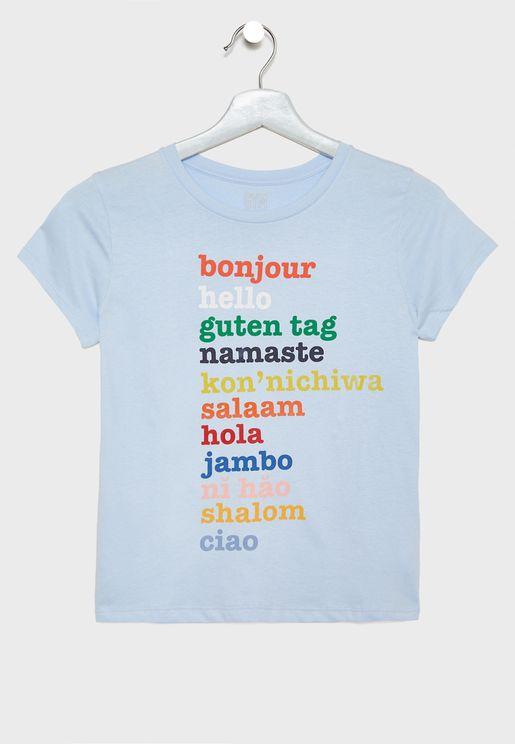 Kids Hello Graphic T-Shirt