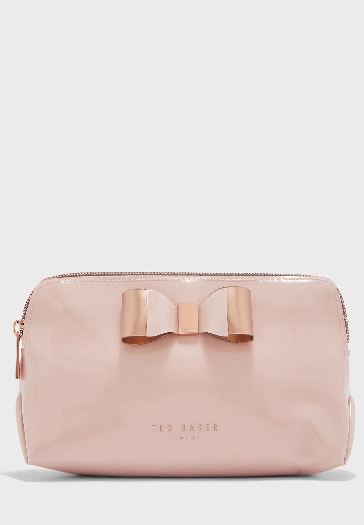 Bow Detail Makeup Bag