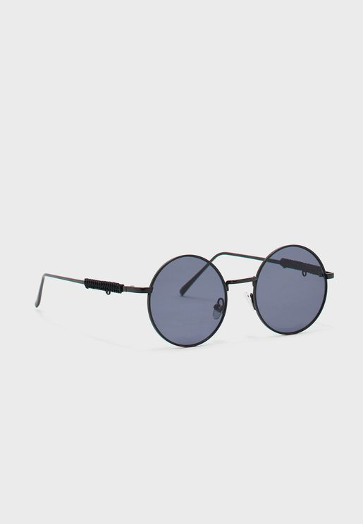 نظارة شمسية دائرية صغيرة