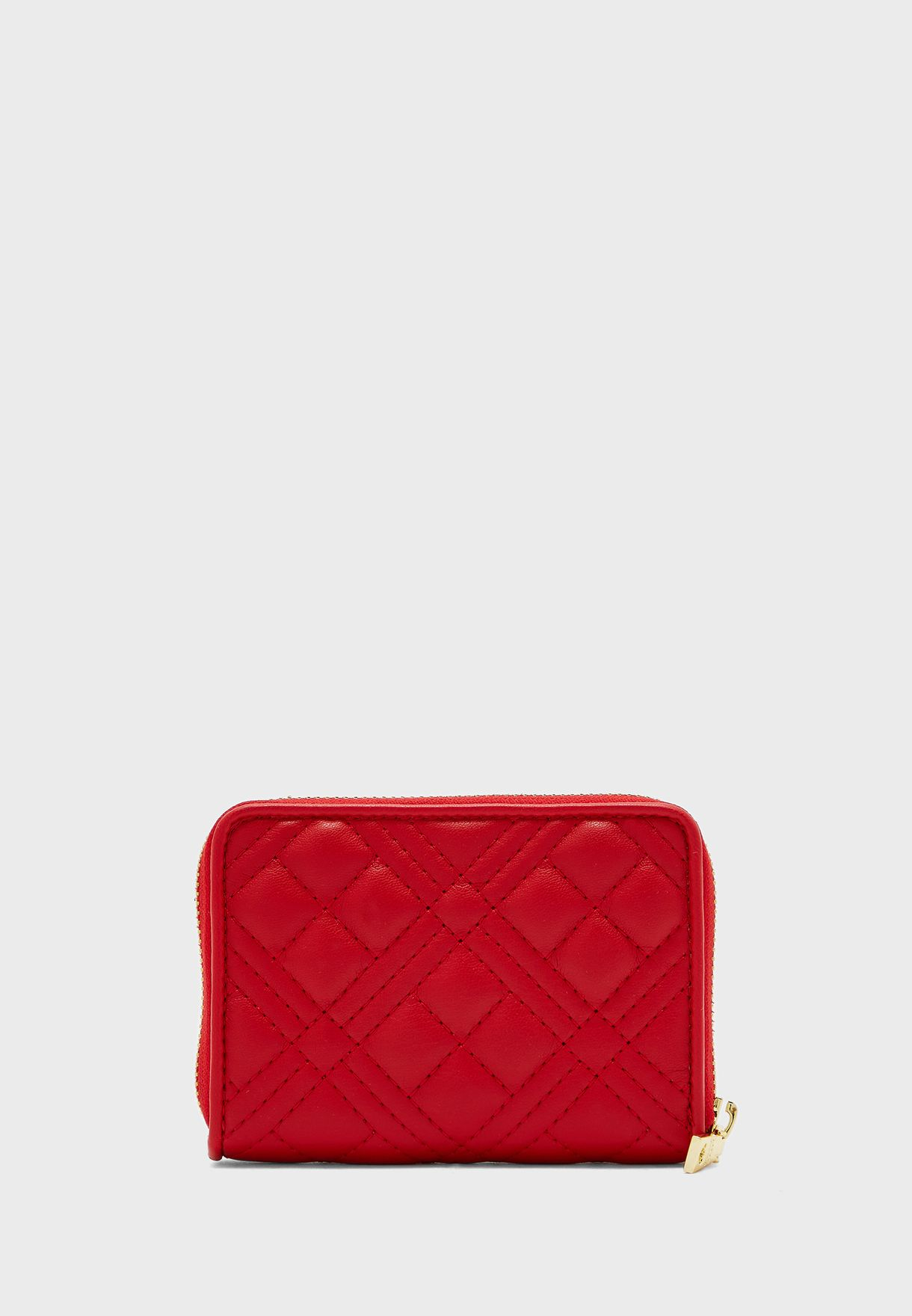 Quilted Zip Detail Purse