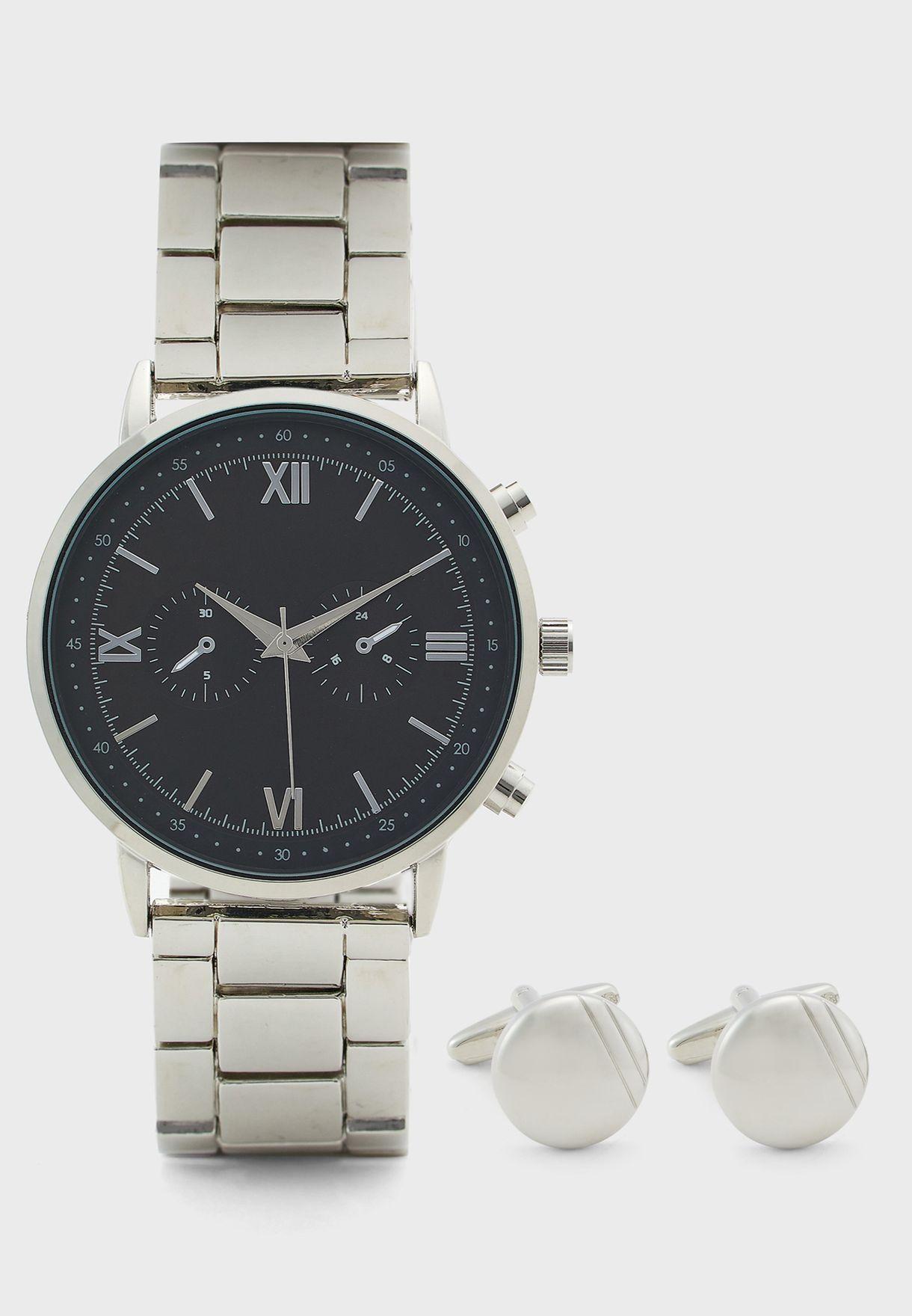 Watch And Cufflinks Gift Set