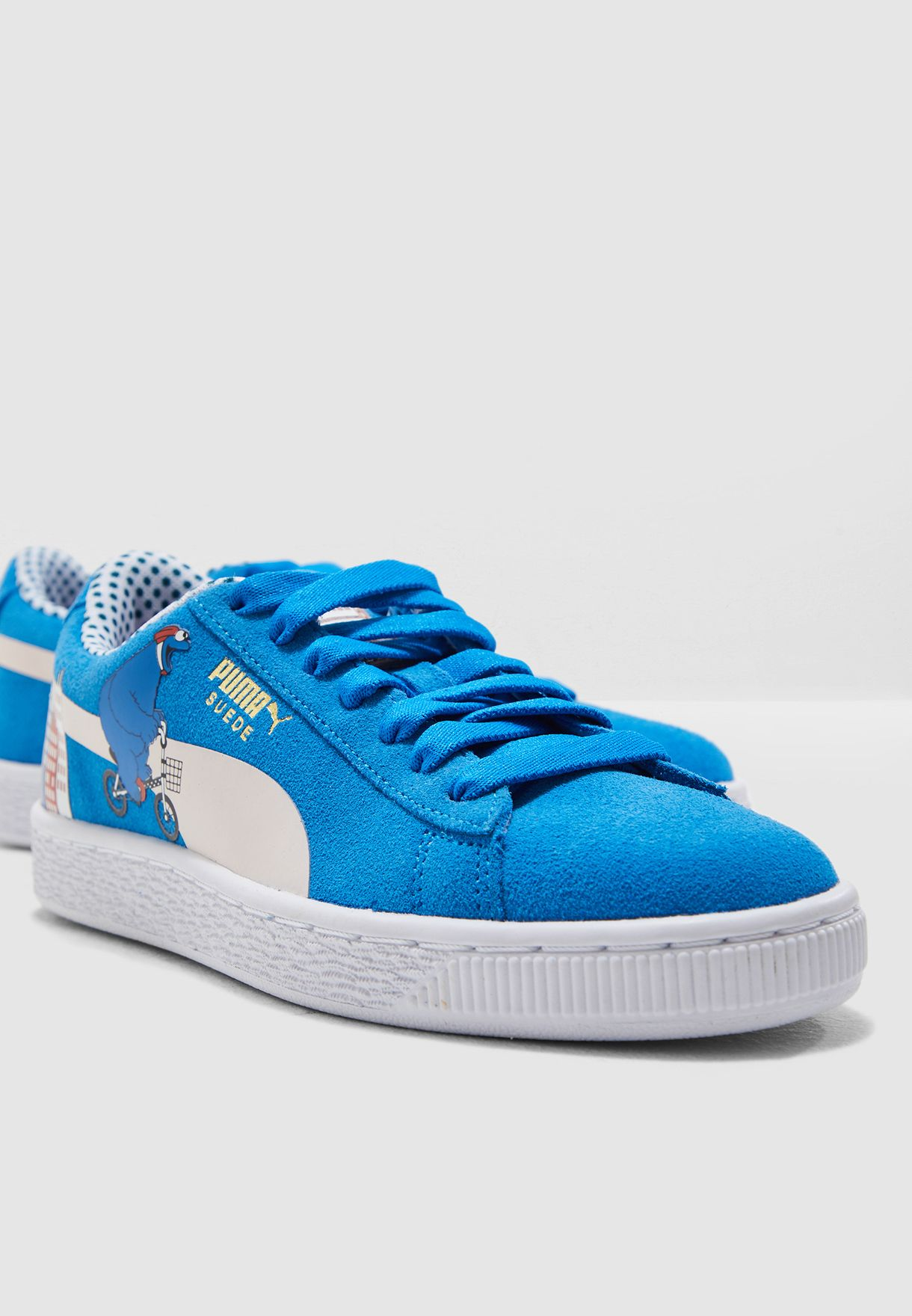 49c2288870be6b Shop PUMA blue Youth Sesame Street 50 Suede 36892301 for Kids in UAE ...