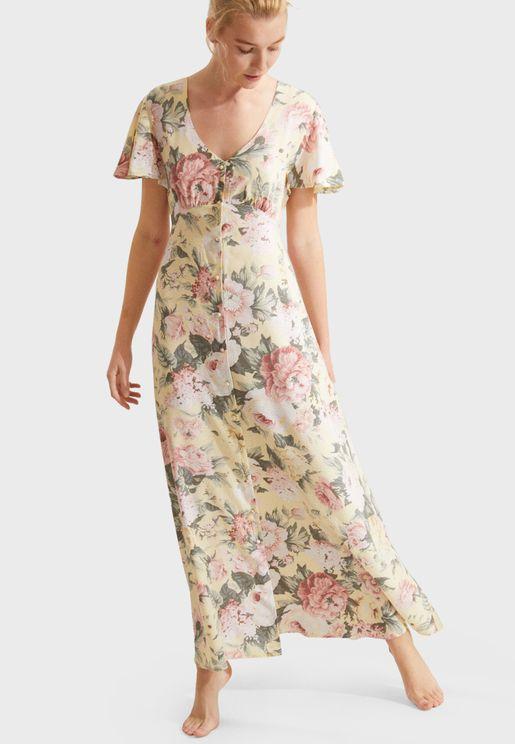 Floral Printed Nightdress