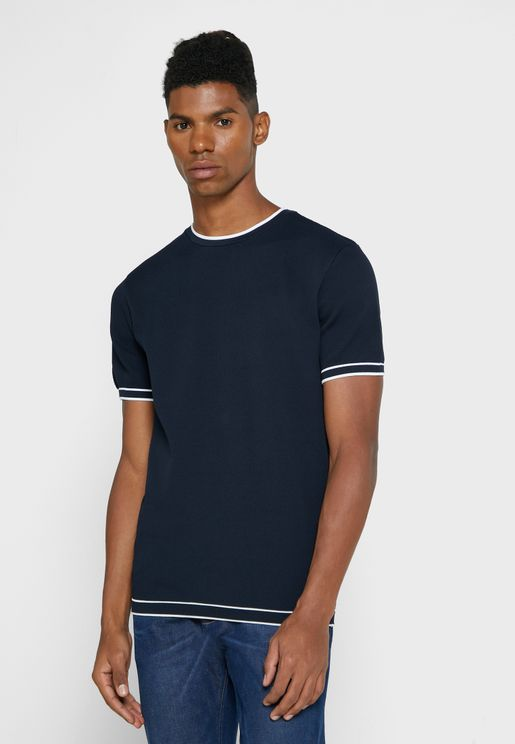 Tipped Crew Neck T-Shirt