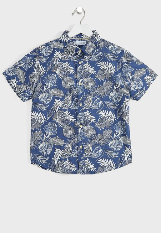 Kids Leaf Print Shirt