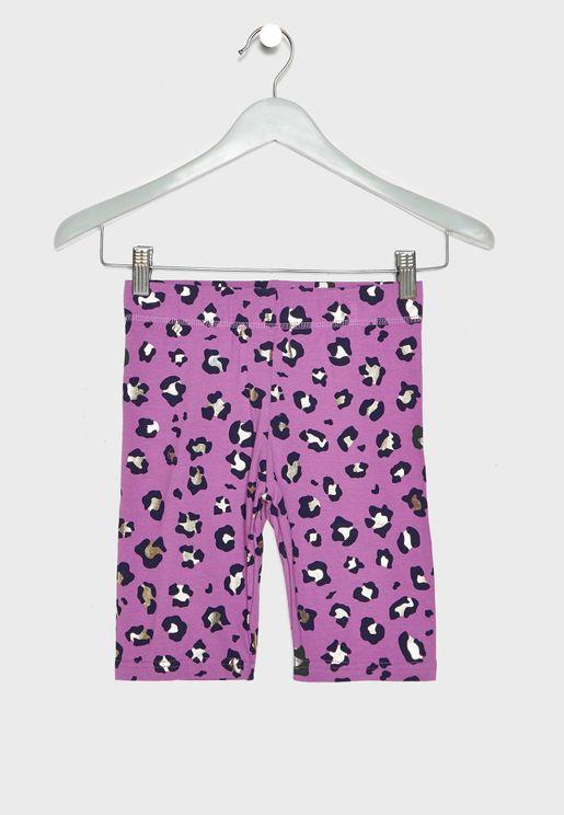 Kids Hailey Animal Print Shorts