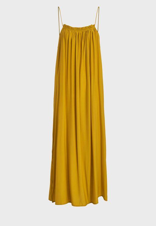 Cami Strap Pleated Dress