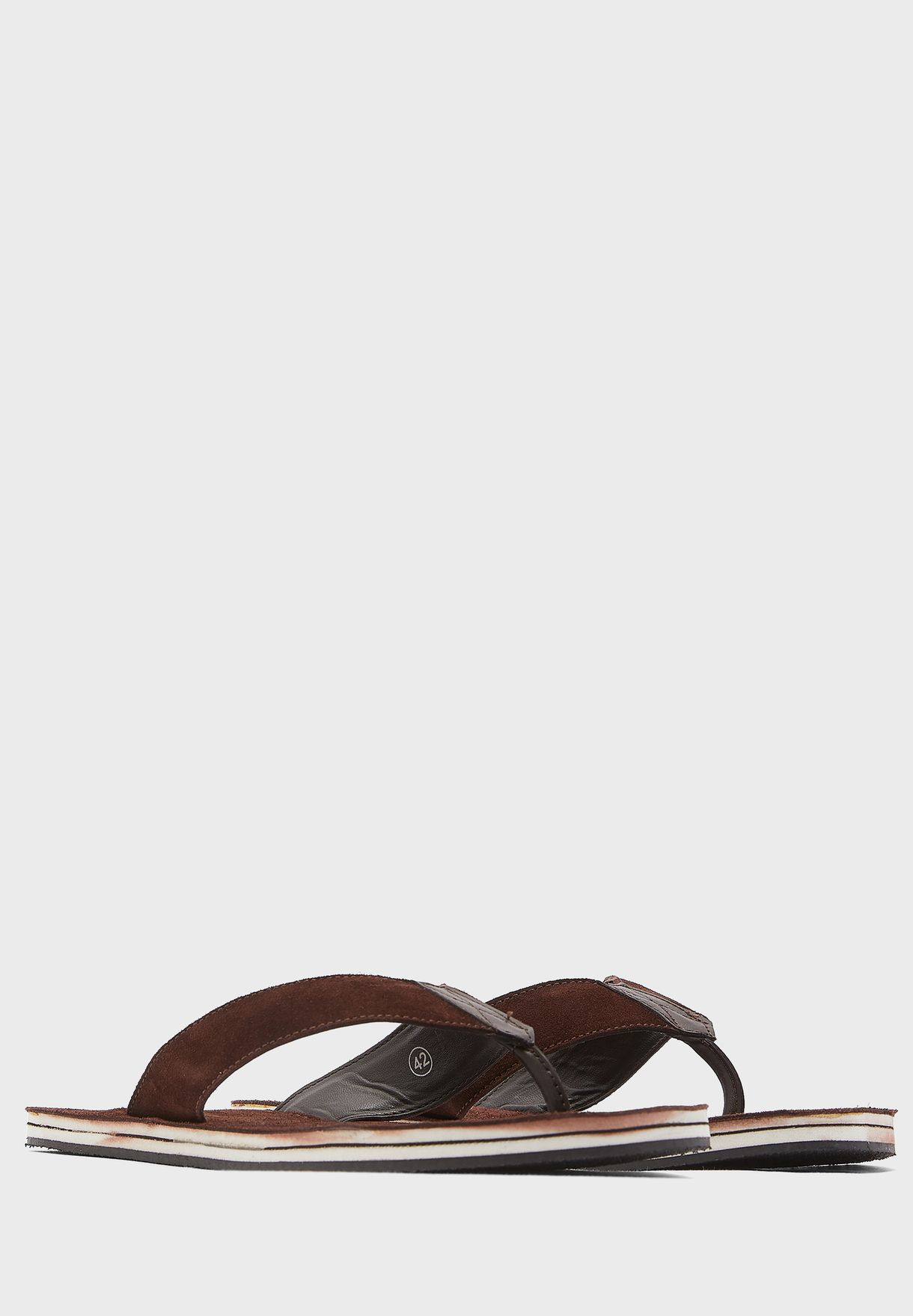 Suede Leather Casual Thong Sandals