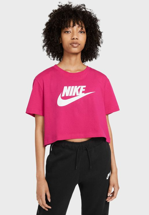 NSW Essential Icon Futura Cropped T-Shirt