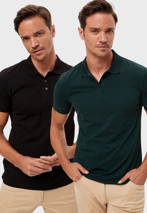 2 Pack Assorted Polo