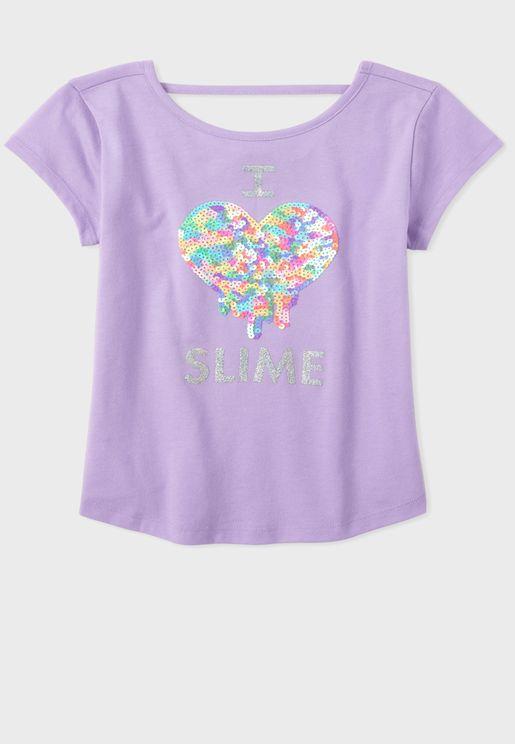 Kids Embellished Slime Cut Out Blouse