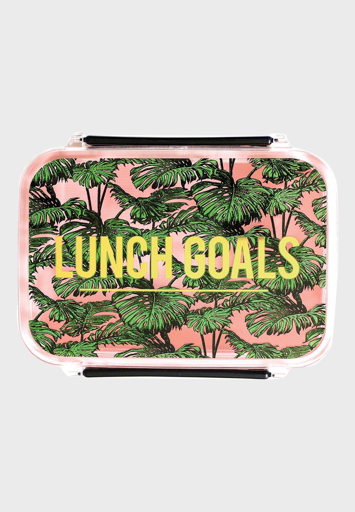 Leaf Print Lunch Box
