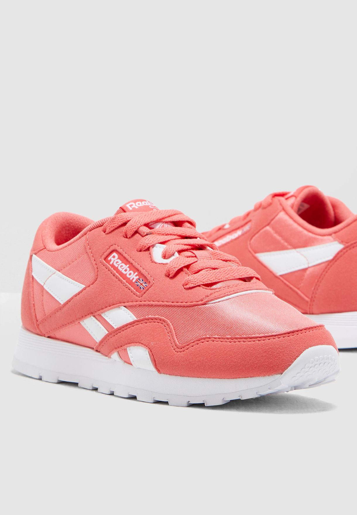 Shop Reebok pink Classic Nylon MU CN7626 for Kids in Saudi ... 233a290f1
