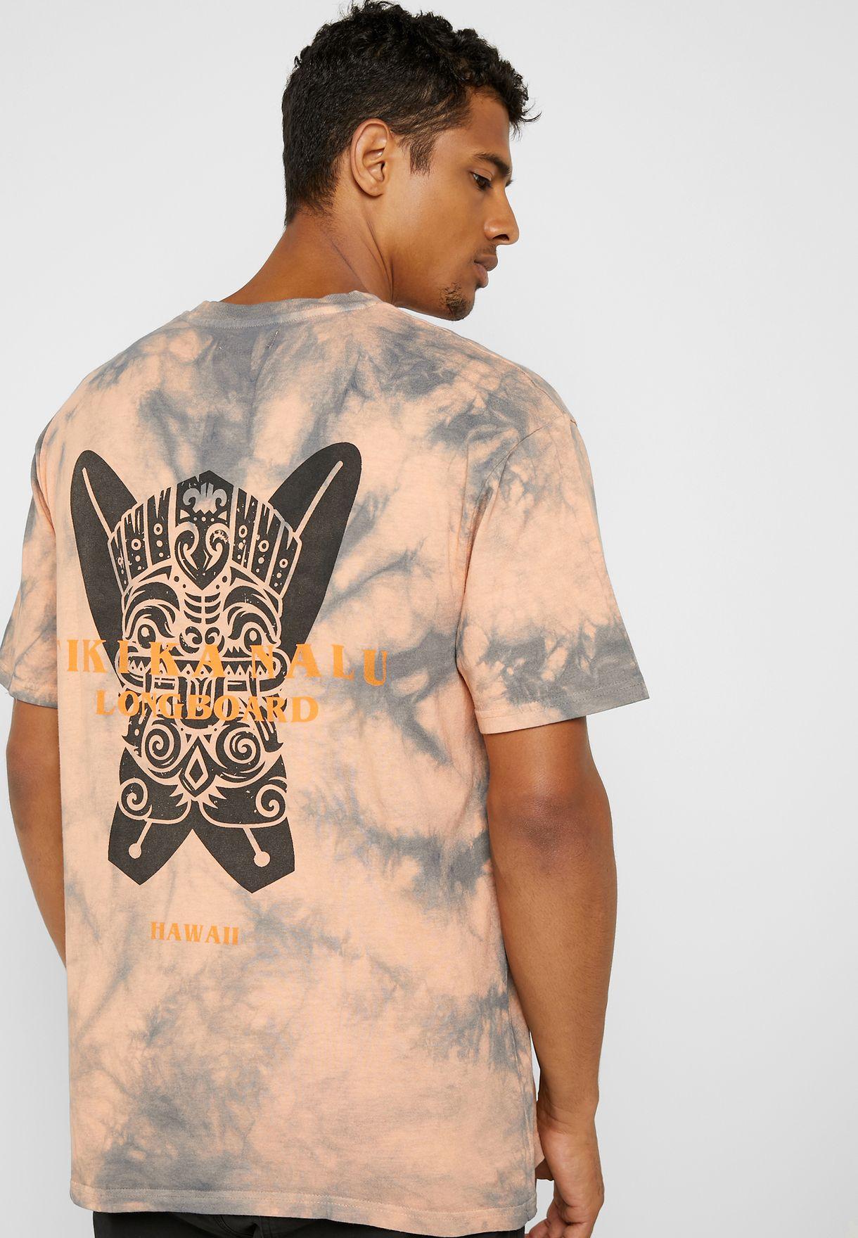 2e4cdd29 Shop Topman prints Oversized Tribal Tie Dye T-Shirt 71G82TOGE for ...