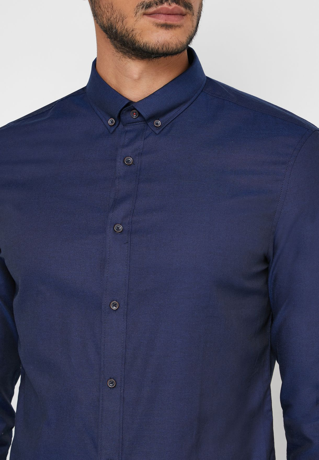 Elbow Patched Tailored Shirt