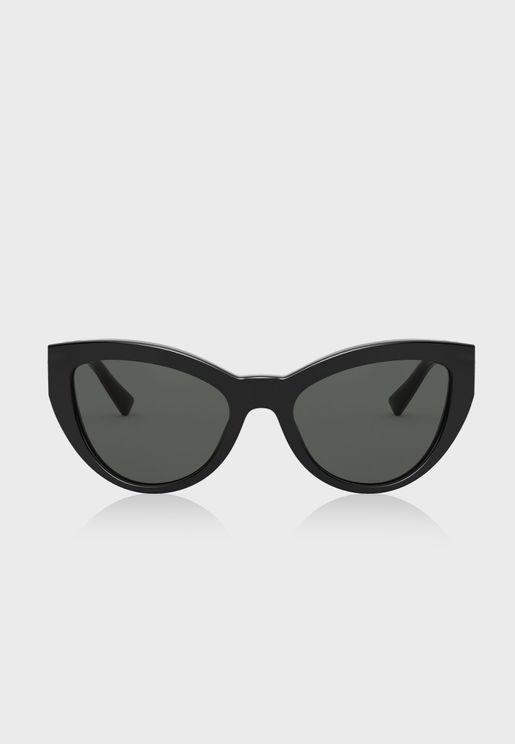 نظارة شمسية بشكل عين القطة 0VE4381B
