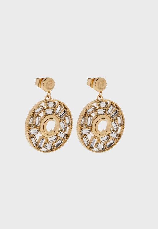 Baguette Swarovski Stone Earrings