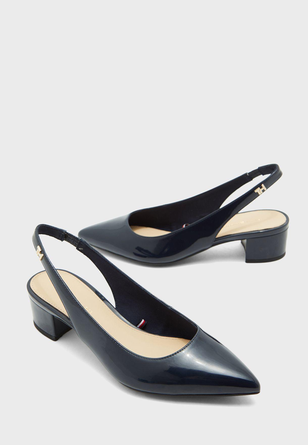 Feminine Patent Mid Heel Pump - DW5