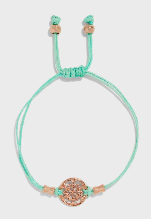 String Bracelet With Charm Detail