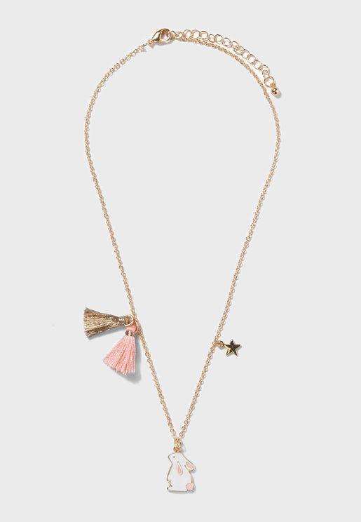Kids Rabbit Necklace
